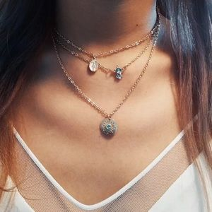 Sun Crystal Layered Necklaces